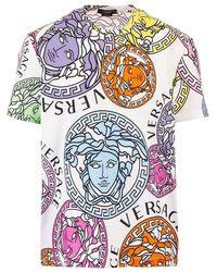 Versace Men's A761131f004045w000 White Other Materials T-shirt