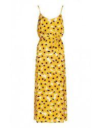 FABIENNE CHAPOT Sun Set Dress In Off White / Sunflower
