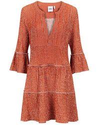 OU. Boutique Stories Dress Lace Murex Rouge - Orange