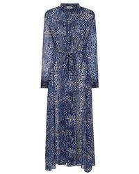 Mercy Delta Homewood Ombre Cheetah Sea Dress - Blue