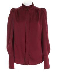 Paolo Fiorillo Capri Ruffles Shirt In Burgundy Color - Red