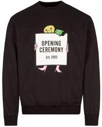 Opening Ceremony Lightbulb Box Logo Sweatshirt - Black