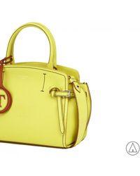 Trussardi - • Shoulder Bag In Yellow - Lyst