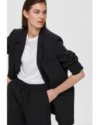 SELECTED Sia Ls Relaxed Blazer Black