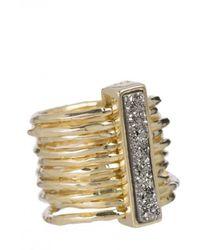 Marcia Moran - Women's Gan109 Chloe Multiband Ring - Lyst