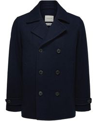 SELECTED Wool Peacoat - Rich Navy - Blue