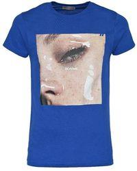 Daniele Alessandrini Men's M9199a4241023 Blue Cotton T-shirt