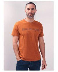 True Religion Arch Logo Crew T-shirt Colour: Caramel - Black