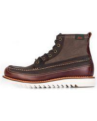 G.H.BASS G.h. Bass & Co Quail Razor High Boots Dark Brown