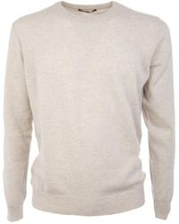 Ones Men's 00150756 White Cashmere Sweater