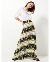 Hayley Menzies The Drifters Silk Maxi Skirt - Multicolour