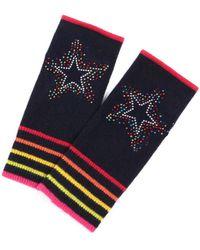Adeela Salehjee Berlin Navy Cashmere Fingerless Glove , Style:scatter Star - Gray