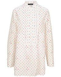 Undercover Shirt Dress Pois - White