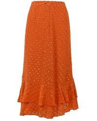 L'Autre Chose L'autre Chose Cotton Skirt - Orange