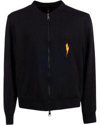 Neil Barrett - Men's Pbjs454sl502s1004 Black Cotton Sweatshirt - Lyst