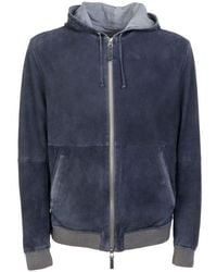 Gimo's Suede Outerwear Jacket - Blue