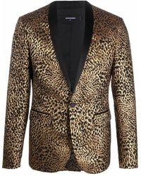 DSquared² Men's S74bn1013s53022001f Gold Polyester Blazer - Metallic