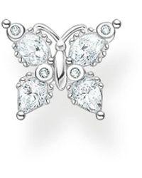 Thomas Sabo Cz Butterfly Earrings - Metallic