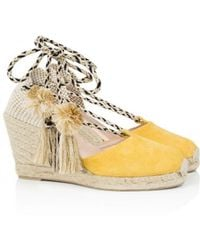 Air & Grace - Shimmie Yellow Wedge Espadrilles - Lyst