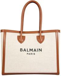 Balmain B-army Tote Bag - White