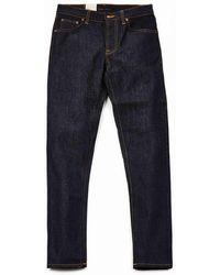 Nudie Jeans Jeans Co Steady Eddie Ii Denims - Dry True Colour: Dry True, Siz - Blue