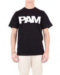 Pam Men's 1345asc1nero Black Cotton T-shirt
