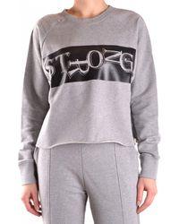 Pinko Gray Cotton Sweatshirt