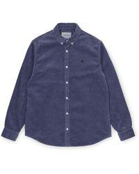Carhartt Madison Cord Shirt - Blue