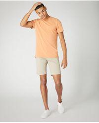 Remus Uomo Slim Fit Cotton Stretch Chino Shorts Stone | - Natural