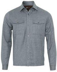 Z Zegna Techmerino Tm Over Shirt (grey Melange)