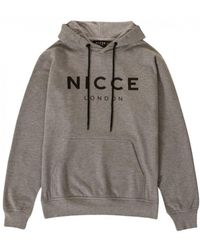 Nicce London - Original Logo Hood Light Grey - Lyst