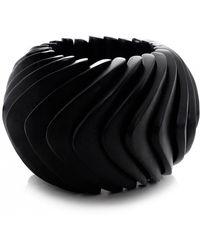 Monies - Ebony Chunky Structure Bracelet - Lyst