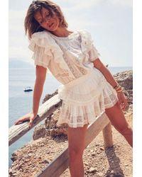 LoveShackFancy Stella Dress Antique White