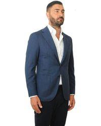 Atterley Caruso Jacket Man 503 561 140 Blue Asm2jm304h