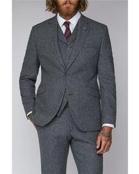 Gibson London Tweed Suit Jacket - Gray