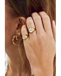 Anna + Nina Ss21 Lovebird Ring - Metallic