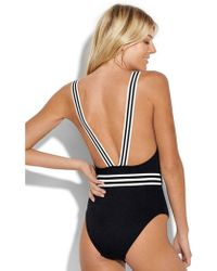 Seafolly Belted Tank Swimsuit - Black