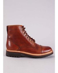 Grenson Handpainted Joseph Boot Colour: Tan - Brown