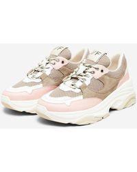SELECTED Slf Gavina Sneakers In Chalk - Pink