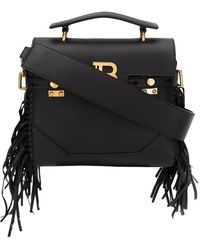 Balmain Women's Tn1s397lvla0pa Black Leather Handbag