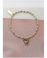 ChloBo - Cube Interlocking Heart Charm Bracelet - Lyst