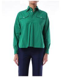 Plan C Shirts Blouses Women Green