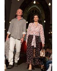 iBlues Fiordo Skirt In Dark Brown Floral Print - Multicolour