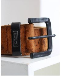 Replay - Worn Leather Belt - Lyst