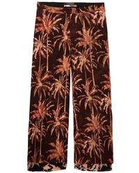 Maison Scotch Sheer Wide Trousers - Red