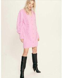 Hayley Menzies Gloria Wool Mix Cardi Dress - Violet - Blue