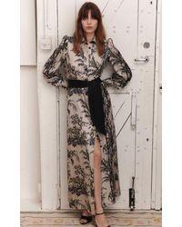 Bella Freud Chinoiserie Mink Silk Mood For Love Dress - Black