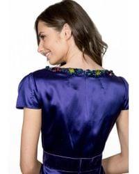 Jenny Packham Purple Silk Beaded Dress