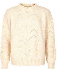 Numph Nuannik Pullover Cream - Natural