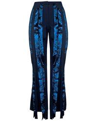 Rejina Pyo Amy Flared Trousers - Blue